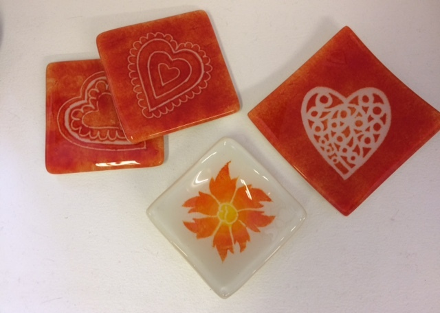 Coasters and small dishes by Karen Lilley