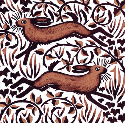 Bramble Hares by Nat Morley